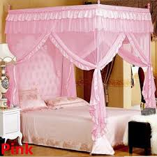 Twin Metal Canopy Bed Pewter With Curtains by Canopy Bed Frame Ebay
