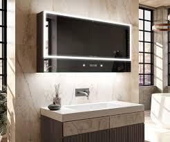 bad spiegelschrank mit led beleuchtung 2 türig