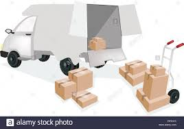 A Hand Truck Or Dolly Loading Corrugated Cardboard Or Cardboard Box ...