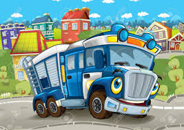 100 Funny Truck Pics Cartoon Looking Policeman Driving Through The City