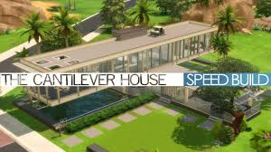 100 Cantilever House The Sims 4 Speed Build The
