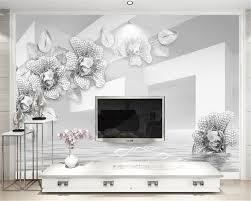 beibehang custom tapete einfache und elegante 3d weiß gold blumen wohnzimmer schlafzimmer tv hintergrund wand 3d tapete