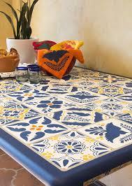 mexican talavera tiles wall furniture stencils royal design