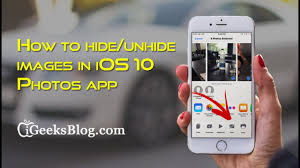 How to hide or unhide images in iOS 10 s app on iPhone or