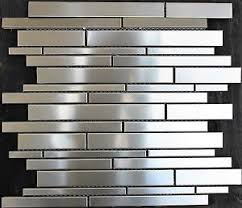 random stacked stainless steel mosaic tile metal silver