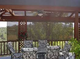 Diy Roll Up Patio Shades by Metal Framed Pergola With Roll Up Sun Shade For Deck Diy