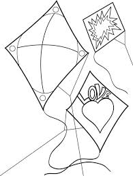 Three Kites Coloring Page