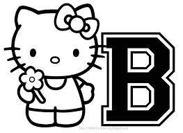 Hello Kitty Letter B