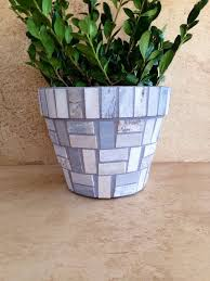 Excited To Share The Latest Addition My Etsy Shop Mosaic Planter Rustic PlantersMosaic Flower PotsPlanter