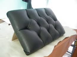 Black Leather Headboard With Diamonds by Diamond Tufting Designs Leather Upholstery Youtube