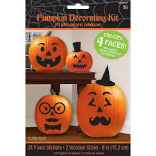 Cute Carved Pumpkins Faces by Amazon Com Pumpkin Decorating Kit Makes 4 Jack O Lantern Faces