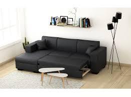 canapé simili cuir gris canapé d angle 4 places simili cuir tendance