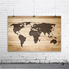World Map Picture Etsy Fresh Rustic Wood Poster Wall Art Print Gifts