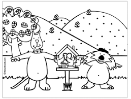 Birdhouse Coloring Page Gif