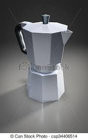 An Image Of A Typical Italian Coffee Percolator Clipart