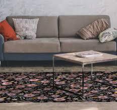 retro blumen wohnzimmer vinyl teppich