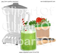 Clipart Of A Green Smoothie By Blender And Ingredients Royalty Free Vector Illustration 10241514733 Juice