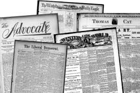 Pile Newspapers Folded Stacked Pages News Stock Photo Royalty Free Of And With Headlines Articles Photos