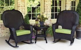 3 Piece Rocking Chair Set Outdoor Patio Wicker Furniture Tortuga Sea Pines