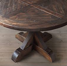 Aspen Round Dining Table Rustic Gray Traditional For Attractive Residence Designs