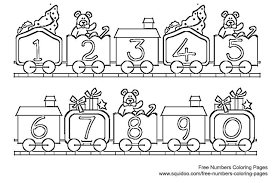 Number Coloring Page 20 Numbers Pages