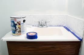 Tiles For Backsplash In Bathroom by Updated Bathroom Tile Backsplash Diy With Paint
