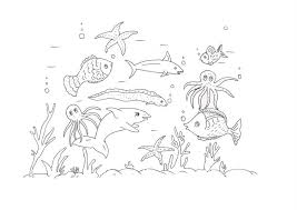 Innovative Ocean Animals Coloring Pages Best Ideas For Children