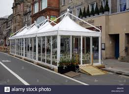 Additional Restaurant Seating In A Marquee Outside Cafe Andaluz George Street Edinburgh