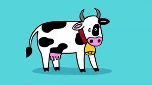 Coloriage Vache Rigolote
