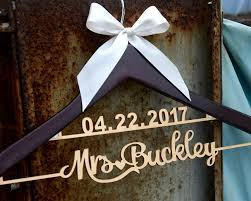 New Tech Wedding Hanger With Date Personalized Rustic Dress