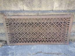 Decorative Air Conditioning Return Grille by Large Ornate Metal Heat Grate Antique Vintage Cast Iron Decorative