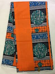 30yards Lot2017 Orange Color African Print Fabric Java Wax With Teal Circle Pattern For Women ChurchFeb 13 2017 In From Home Garden On