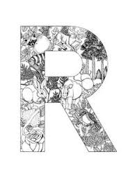 Coloring Page Alphabet Animals