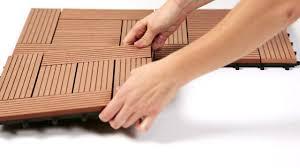 wood plastic composite deck tiles from garden winds