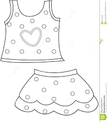 Royalty Free Illustration Download Childrens Clothing Coloring Page