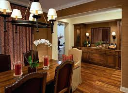 Buffet Table For Dining Room Wooden Flooring In Combined Glass Round