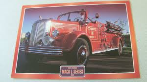 100 1940 Trucks Mack L Series Fire Engine Truck Framed Picture 8