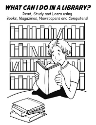 Unique Library Coloring Pages 74 For Online With