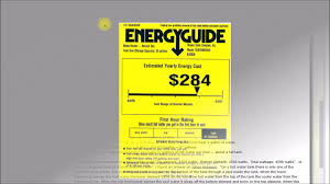 Energy Guide Labels Whats Up With Those