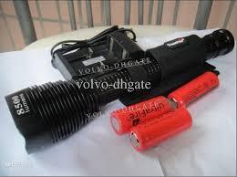 8500 lm 7x cree xm l t6 led bulb flashlight torch 3x 26650 45w