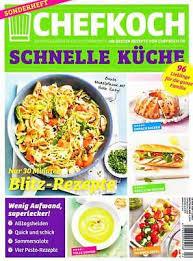 chefkoch sonderheft 2 2017 schnelle küche salate üs