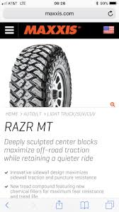 Maxxis Razr MT Tires? | Tacoma World Amazoncom Maxxis M934 Razr2 Sport Atv Rear Ryl Tire 20x119 Maxxcross Desert It M7305d 1109019 771 Bravo At Test Diesel Power Magazine Four 4 Tires Set 2 Front 21x710 22x119 Sti Hd3 Machined 14 Wheels 26 Cst Abuzz Polaris Bighorn Radial Mt We Finance With No Credit Check Buy Them Razr Tires Tacoma World Cheng Shin Mu10 20 Map3 Tyres Gas Tyre Maxxis At771 Lt28570r17 8 Ply 121118r Quantity Of Ebay Liberty Utv Guide Truck Suppliers And Manufacturers
