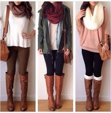 Cute Fall Outfits With Leggings And Combat Boots