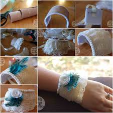 How To DIY Lace Cuff Bracelet From Toilet
