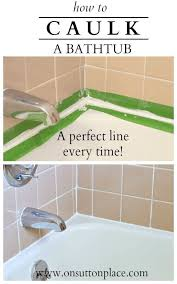 Polyseamseal Tub And Tile Adhesive Caulk by Best 25 Caulking Tub Ideas On Pinterest Clean Shower Grout