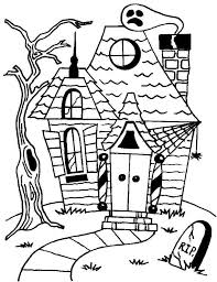 Free Printable Coloring Pages Haunted House Best Photos Of Scary In Halloween