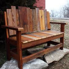 Wonderful Patio Wooden Bench Design