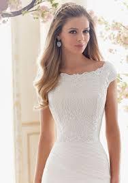 vintage lace cropped top wedding dress designed by madeline