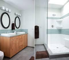 Light Blue Subway Tile contemporary modern bath remodel u2014 kim duncan design