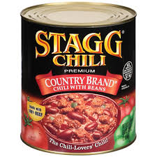 Stagg Country Brand Chili With Beans 108 Oz Can